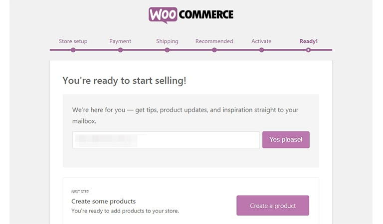 woocommerce tutorial - Your Store Is Ready