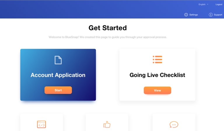 landing page - Get Started Page