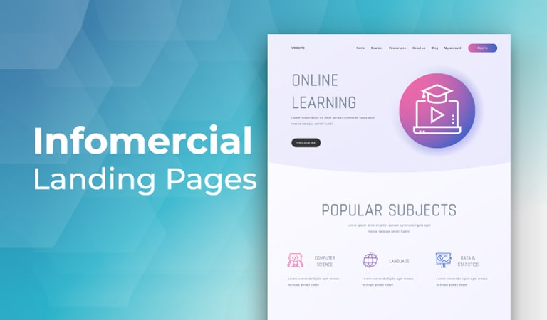 landing page - Infomercial Page