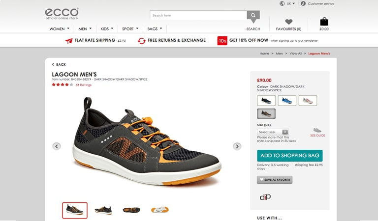 landing page - Product Detail Page