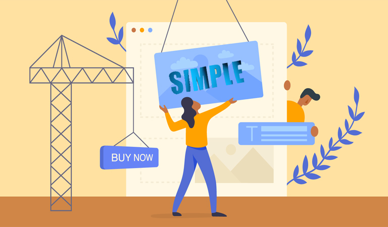 landing page - Simplify your landing page content