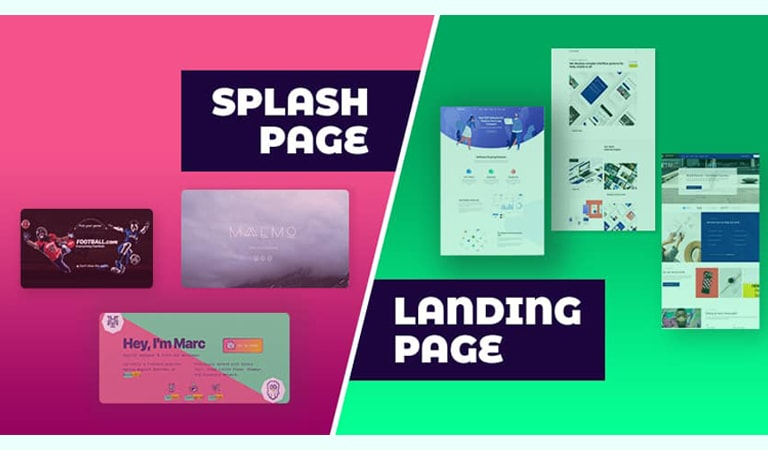 landing page - Splash page