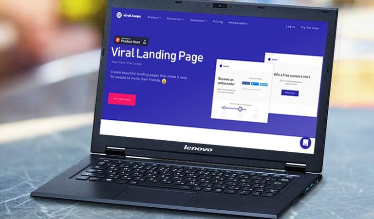 landing page - Viral Landing Page