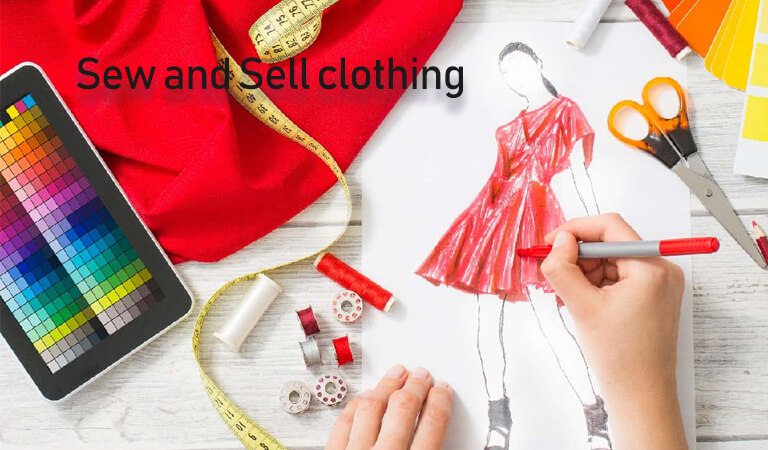how to earn money online - Sew and Sell clothing