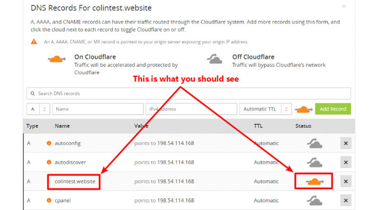 what is cloudflare - Verify DNS Records