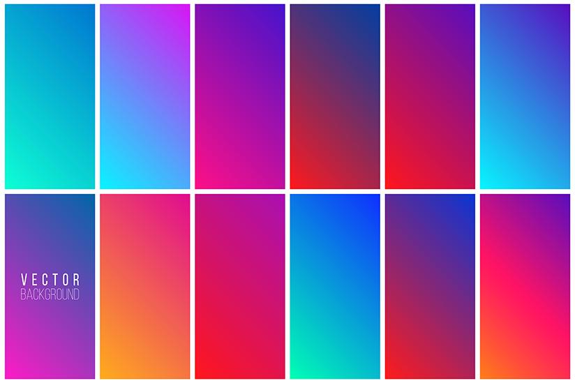 use vibrant colors website design