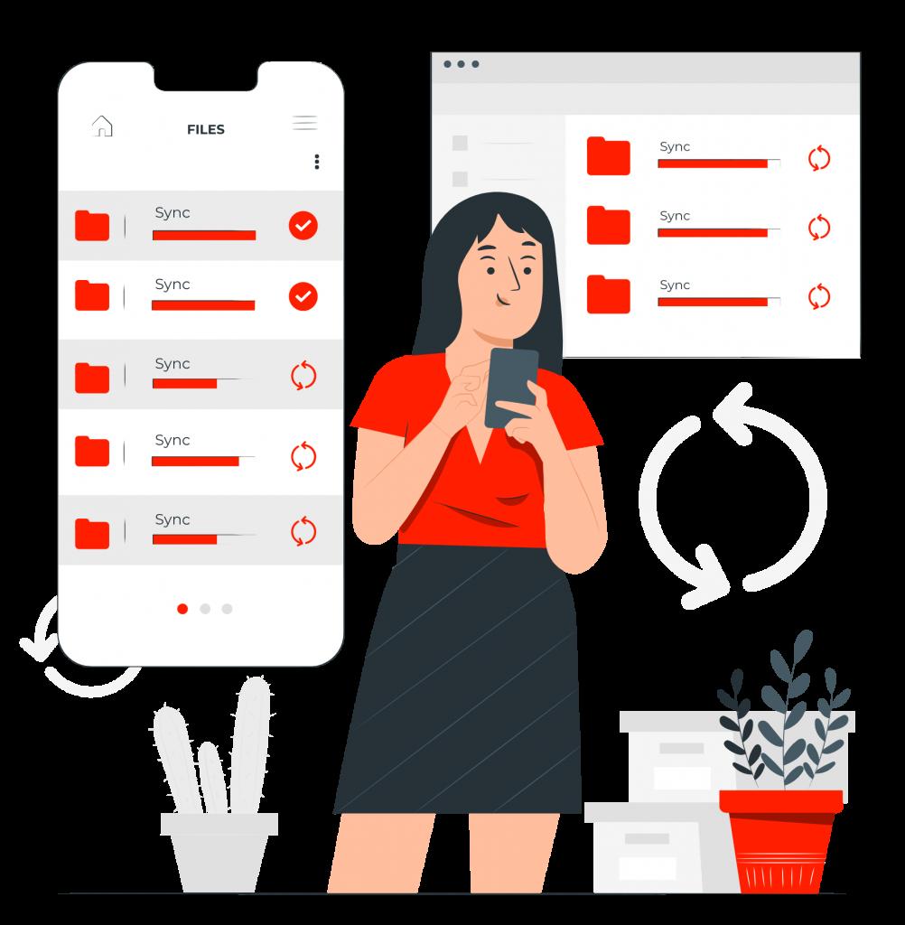 sync custom emails on desktop mobile email hosting